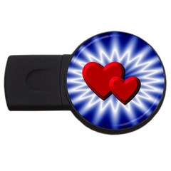 Love 2gb Usb Flash Drive (round) by Siebenhuehner