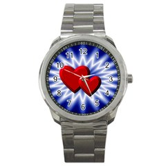 Love Sport Metal Watch by Siebenhuehner