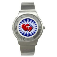 Love Stainless Steel Watch (unisex) by Siebenhuehner