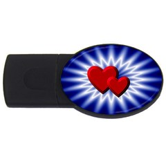 Love 4gb Usb Flash Drive (oval) by Siebenhuehner