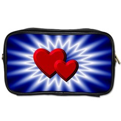Love Travel Toiletry Bag (one Side) by Siebenhuehner