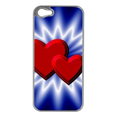 Love Apple Iphone 5 Case (silver)