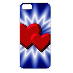 Love Apple Iphone 5 Seamless Case (white) by Siebenhuehner