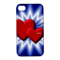 Love Apple Iphone 4/4s Hardshell Case With Stand