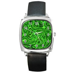 Modern Art Square Leather Watch by Siebenhuehner