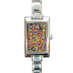 Modern  Rectangular Italian Charm Watch by Siebenhuehner