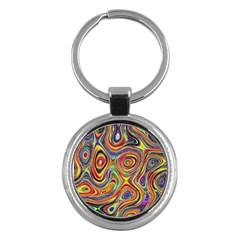 Modern  Key Chain (round) by Siebenhuehner