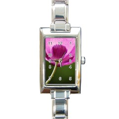 Poppy Rectangular Italian Charm Watch by Siebenhuehner