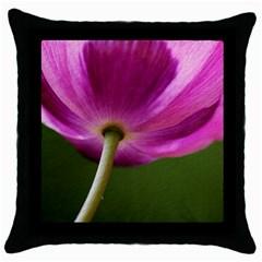 Poppy Black Throw Pillow Case by Siebenhuehner