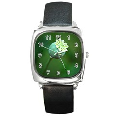 Poppy Capsules Square Leather Watch by Siebenhuehner