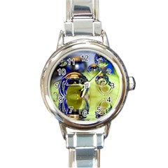Marble Round Italian Charm Watch