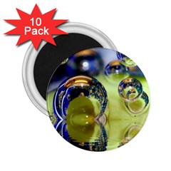 Marble 2 25  Button Magnet (10 Pack)