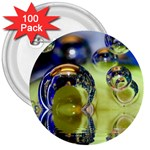 Marble 3  Button (100 pack) Front