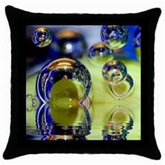 Marble Black Throw Pillow Case