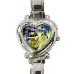 Marble Heart Italian Charm Watch