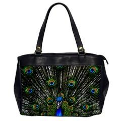 Peacock Oversize Office Handbag (one Side)