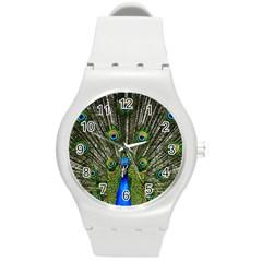 Peacock Plastic Sport Watch (medium) by Siebenhuehner