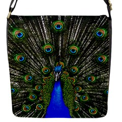 Peacock Flap Closure Messenger Bag (small) by Siebenhuehner