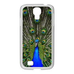 Peacock Samsung Galaxy S4 I9500/ I9505 Case (white) by Siebenhuehner