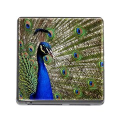 Peacock Memory Card Reader With Storage (square) by Siebenhuehner