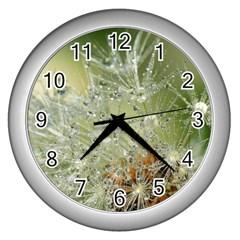 Dandelion Wall Clock (silver) by Siebenhuehner