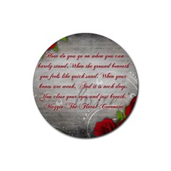 Maggie s Quote Drink Coasters 4 Pack (round) by AuthorPScott