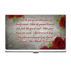 Maggie s Quote Business Card Holder by AuthorPScott