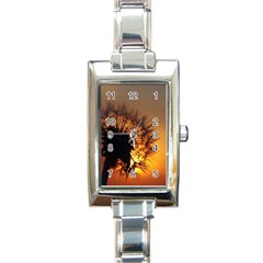 Dandelion Rectangular Italian Charm Watch by Siebenhuehner
