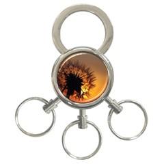 Dandelion 3 Ring Key Chain by Siebenhuehner