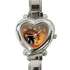 Dandelion Heart Italian Charm Watch  by Siebenhuehner