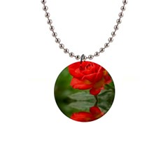 Rose Button Necklace by Siebenhuehner