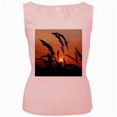 Sunset Womens  Tank Top (pink) by Siebenhuehner