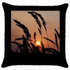 Sunset Black Throw Pillow Case by Siebenhuehner