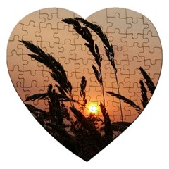 Sunset Jigsaw Puzzle (heart) by Siebenhuehner