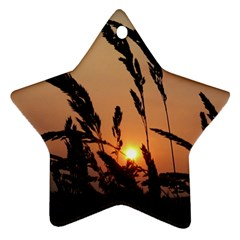 Sunset Star Ornament (two Sides) by Siebenhuehner