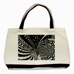 Space Twin Sided Black Tote Bag by Siebenhuehner