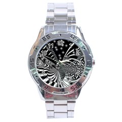 Space Stainless Steel Watch (men s) by Siebenhuehner