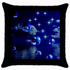 Sky Black Throw Pillow Case by Siebenhuehner