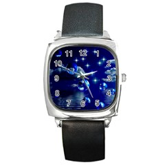 Sky Square Leather Watch by Siebenhuehner