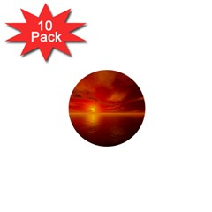 Sunset 1  Mini Button (10 Pack) by Siebenhuehner