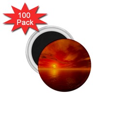 Sunset 1 75  Button Magnet (100 Pack)