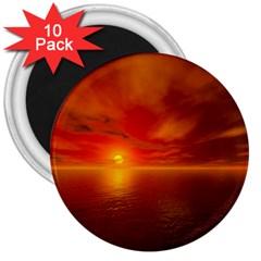 Sunset 3  Button Magnet (10 Pack) by Siebenhuehner