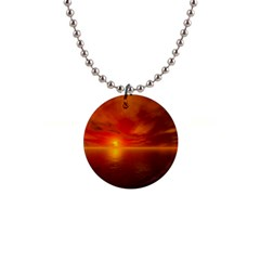 Sunset Button Necklace by Siebenhuehner