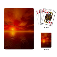 Sunset Playing Cards Single Design by Siebenhuehner