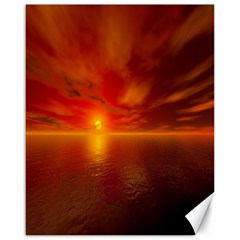 Sunset Canvas 16  X 20  (unframed) by Siebenhuehner