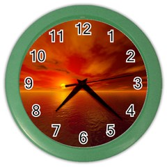 Sunset Wall Clock (color) by Siebenhuehner