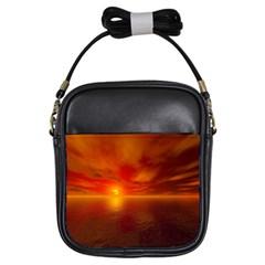 Sunset Girl s Sling Bag by Siebenhuehner