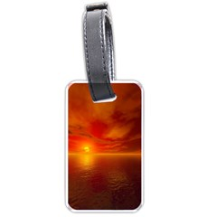 Sunset Luggage Tag (one Side) by Siebenhuehner