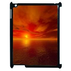 Sunset Apple Ipad 2 Case (black) by Siebenhuehner