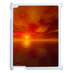 Sunset Apple Ipad 2 Case (white) by Siebenhuehner